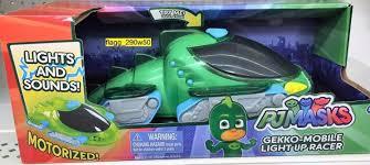 pj masks light up shoes pj masks gekko mobile light up racer vehicle lights sounds motorized