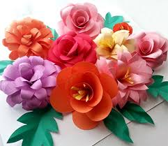Make Your Own Paper Flowers - home dzine crafts use coloured card to make fun flowers