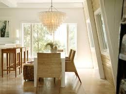 dining room inspiring capiz shell chandelier with wicker