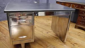 Metal Desk Vintage Vintage Industrial 1950s Stripped Polished Metal Desk Youtube