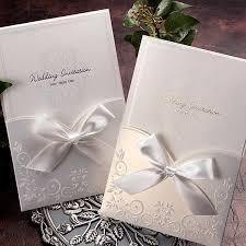 Elegant Wedding Invitations White Ribbon Pocket Elegant Wedding Invitations Itsinvitation