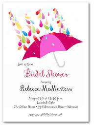 bridal shower invitation raindrops pink umbrella bridal shower invitations