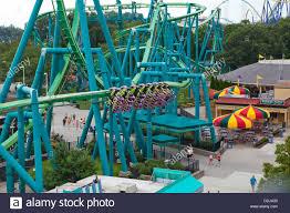 Sandusky Ohio Six Flags Inverted Amusement Stock Photos U0026 Inverted Amusement Stock Images