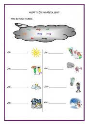 weather worksheet by svlgns