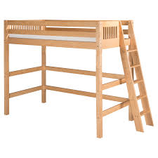 High End Bunk Beds Camaflexi Mission Headboard High Loft Bed With Lateral Ladder