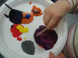 playful learning in the early years paint palettes and colour mixing