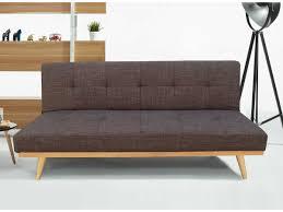 lolet canapé canapé clic clac luca 3 places marron 86405 86407