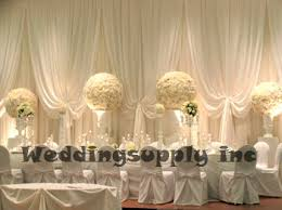 wedding backdrop to buy buy luxury white wedding backdrop with beatiful swag wedding drape