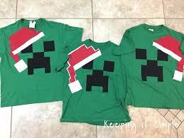 diy easy minecraft christmas pajamas keeping it simple crafts