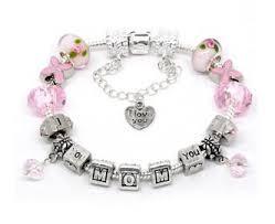 mothers day bracelets s day gift sterling silver polished pink i you