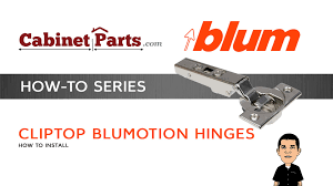 how to install and adjust a blum cliptop 110 degree blumotion