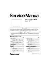 panasonic tx 42asr600 chassis km26e service manual download