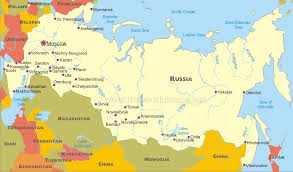 russia map political map of russia