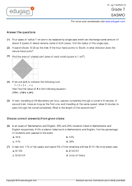 grade 7 sasmo printable worksheets online practice online tests