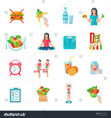 weight loss healthy diet plan flat stock vector 304425431