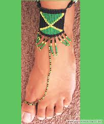 Jamaican Flag Day Jamaican Barefoot Sandals Ayida Honor Bridal Accessories