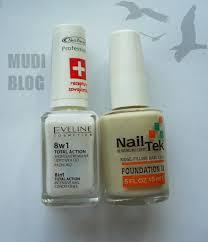 mudiblog porównanie nail tek foundation ii u0026 eveline 8w1