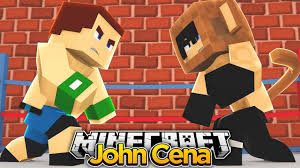 minecraft wwe john cena backyard wrestling youtube