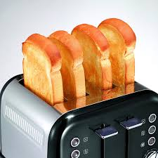 Coolest Toasters Morphy Richards Accents Four Slice Toaster Black Amazon Co Uk