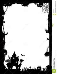 halloween border silhouette u2013 festival collections