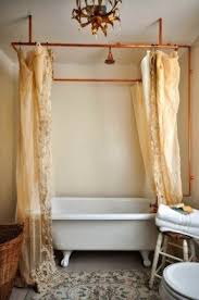 Copper Pipe Shower Curtain Rod Decorative Shower Curtain Rods Foter