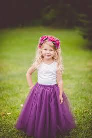 purple tulle flower girl tutu purple tutu eggplant tulle skirt any color