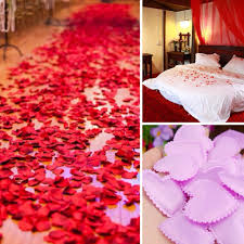 marriage room decoration love petal hand throwing flowers