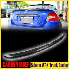 subaru wrx spoiler for subaru wrx sti sedan oe style rear trunk spoiler carbon fiber