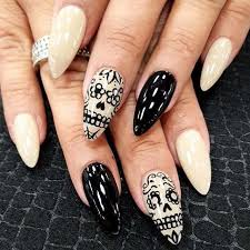 nail design center 20 skull nail designs to put you on center stage