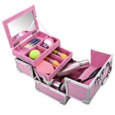 Box Makeup homdox mini portable extendable makeup aluminum cosmetic