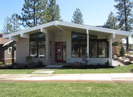 mid century home plans mid century modern house plan bend oregon mcm exterior plans for