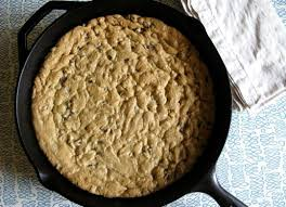 huge chocolate chip cookie baked in a cast iron skillet recipe