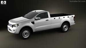 Ford Ranger Design 360 View Of Ford Ranger Single Cab 2012 3d Model Hum3d Store