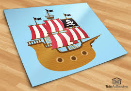 stickers for kids small pirate boat