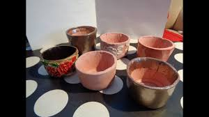how to make pots from terracotta air dry clay youtube