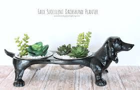 Succulent Planters For Sale by Faux Succulent Dachshund Planter Katelyn Chantel Blog