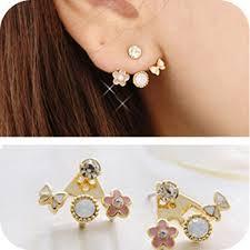 make stud earrings flower earring new fashion jewelry sweet stud