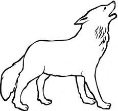 belajar mewarnai gambar binatang serigala untuk anak