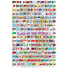 Flag Of The World Flags Of The World Educational Chart Walmart Com