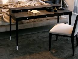 Modern Italian Office Furniture by Nella Vetrina Victoria Modern Designer Ebony Makassar Wood Desk