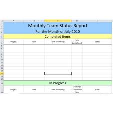 Project Daily Status Report Template Excel Employee Monthly Status Report Template Projectmanagementinn