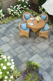 Patio Layout Design Patio Layout Variations Of Gray Softened Green Plant Borders