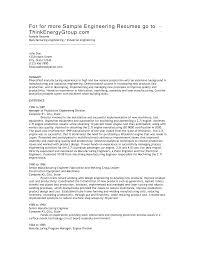 Sample Cover Letter For Engineering Job by Brilliant Ideas Of Production Engineer Sample Resume Also Job