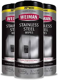 best thing to use to clean grease from kitchen cabinets weiman stainless steel cleaner wipes 3 pack removes fingerprints residue water marks and grease from appliances works great on refrigerators