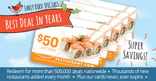gift cards deals specials by restaurant 5 50 restaurant gift cards for 38
