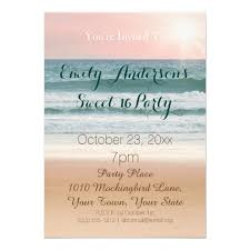 summer beach theme pink sunset sweet 16 birthday card zazzle com