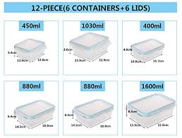 amazon com glass food storage containers with locking lids 12