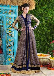 gown style dresses buy jacket style indian gowns online uk beige blue jacket style
