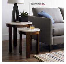 crate and barrel nesting tables crate and barrel last chance 15 off accent tables ends today nesting