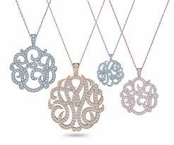 Personalized Script Necklace Three Letter Script Monogram Pendant Pave Diamond Look Necklace